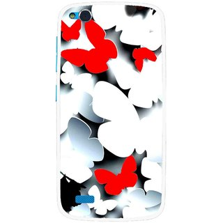 Snooky Printed Butterfly Mobile Back Cover For Gionee Elife E3 - Multi