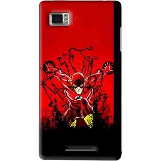 Snooky Printed Super Hero Mobile Back Cover For Lenovo K910 - Multi