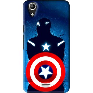 Snooky Printed America Sheild Mobile Back Cover For Micromax Bolt Q338 - Multi