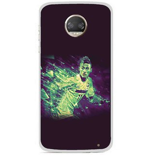Snooky Printed Running Boy Mobile Back Cover For Motorola Moto Z2 Play - Multicolour