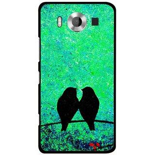 Snooky Printed Love Birds Mobile Back Cover For Microsoft Lumia 950 - Multicolour