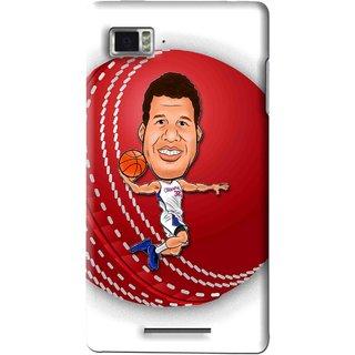 Snooky Printed Cricket Club Mobile Back Cover For Lenovo K910 - Multi