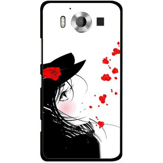 Snooky Printed Mistery Girl Mobile Back Cover For Microsoft Lumia 950 - Multicolour