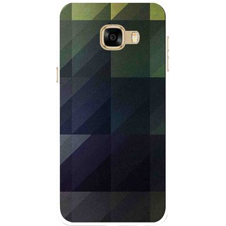 Snooky Printed Geomatric Shades Mobile Back Cover For Samsung Galaxy C7 - Multicolour
