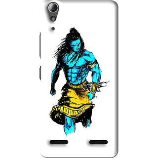 Snooky Printed Bhole Nath Mobile Back Cover For Lenovo A6000 Plus - Multi