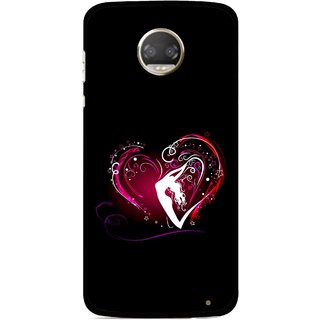 Snooky Printed Lady Heart Mobile Back Cover For Motorola Moto Z2 Play  - Multicolour