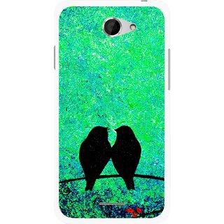 Snooky Printed Love Birds Mobile Back Cover For HTC Desire 516 - Multicolour