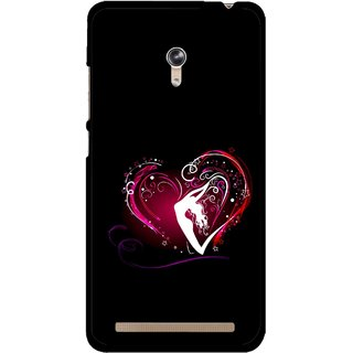 Snooky Printed Lady Heart Mobile Back Cover For Asus Zenfone 6 - Multicolour