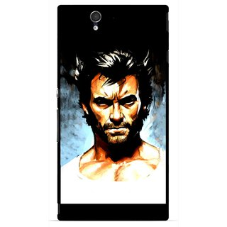 Snooky Printed Angry Man Mobile Back Cover For Sony Xperia Z - Multicolour