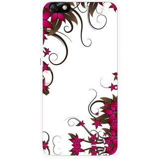 Snooky Printed Flower Creep Mobile Back Cover For Huawei Honor 4X - Multi