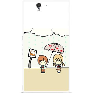 Snooky Printed Feelings in Love Mobile Back Cover For Sony Xperia Z - Multicolour