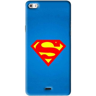 Snooky Printed Super Logo Mobile Back Cover For Micromax Canvas Sliver 5 Q450 - Multi
