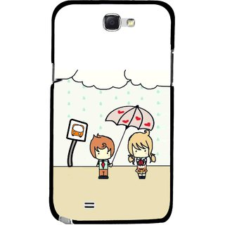 Snooky Printed Feelings in Love Mobile Back Cover For Samsung Galaxy Note 2 - Multicolour