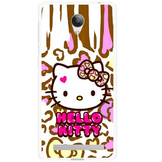 Snooky Printed Cute Kitty Mobile Back Cover For Vivo Y28 - Multicolour