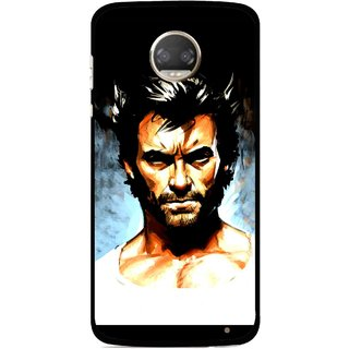 Snooky Printed Angry Man Mobile Back Cover For Motorola Moto Z2 Play  - Multicolour