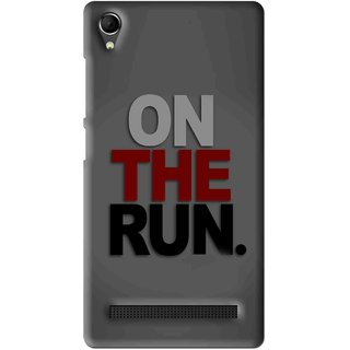 Snooky Printed On The Run Mobile Back Cover For Intex Aqua Power Plus - Multi