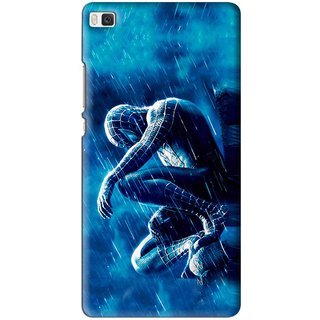 Snooky Printed Blue Hero Mobile Back Cover For Huawei Ascend P8 - Multi