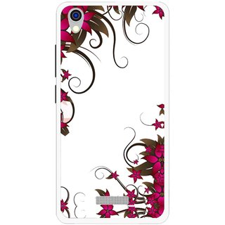 Snooky Printed Flower Creep Mobile Back Cover For Lava Iris X9 - Multi