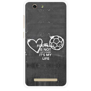 Snooky Printed Football Life Mobile Back Cover For Gionee F103 pro - Multi