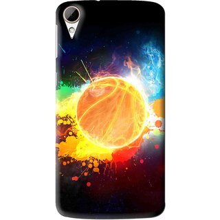 Snooky Printed Paint Globe Mobile Back Cover For HTC Desire 828 - Multi