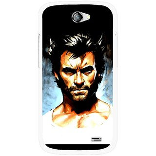 Snooky Printed Angry Man Mobile Back Cover For Gionee Pioneer P2 - Multicolour