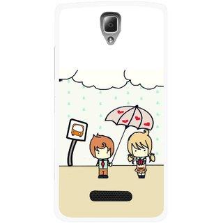 Snooky Printed Feelings in Love Mobile Back Cover For Lenovo A2010 - Multicolour