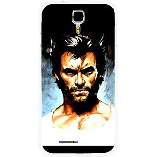 Snooky Printed Angry Man Mobile Back Cover For Micromax Canvas Juice A177 - Multicolour