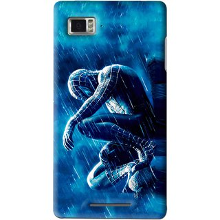 Snooky Printed Blue Hero Mobile Back Cover For Lenovo K910 - Multi