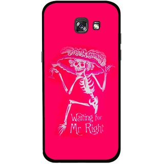 Snooky Printed Mr.Right Mobile Back Cover For Samsung Galaxy A7 (2017) - Multicolour