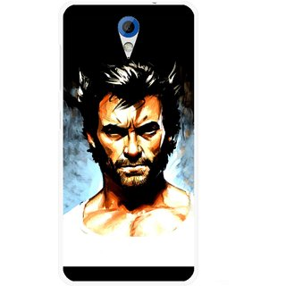Snooky Printed Angry Man Mobile Back Cover For HTC Desire 620 - Multicolour