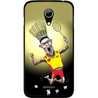 Snooky Printed Adivasi Sports Mobile Back Cover For Micromax A114 - Multicolour