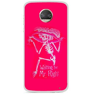 Snooky Printed Mr.Right Mobile Back Cover For Motorola Moto Z2 Play - Multicolour