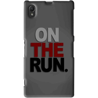 Snooky Printed On The Run Mobile Back Cover For Sony Xperia Z1 - Multi