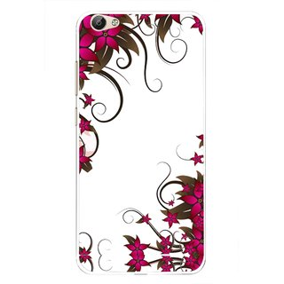 Snooky Printed Flower Creep Mobile Back Cover For Vivo Y66 - Multi