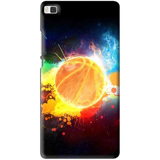 Snooky Printed Paint Globe Mobile Back Cover For Huawei Ascend P8 - Multi