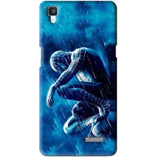Snooky Printed Blue Hero Mobile Back Cover For Oppo R7 - Multi