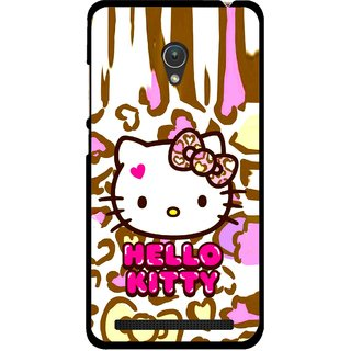 Snooky Printed Cute Kitty Mobile Back Cover For Asus Zenfone Go ZC451TG - Multicolour