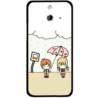 Snooky Printed Feelings in Love Mobile Back Cover For HTC One E8 - Multicolour