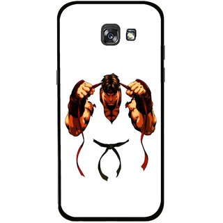 Snooky Printed Karate Boy Mobile Back Cover For Samsung Galaxy A5 (2017) - Multicolour