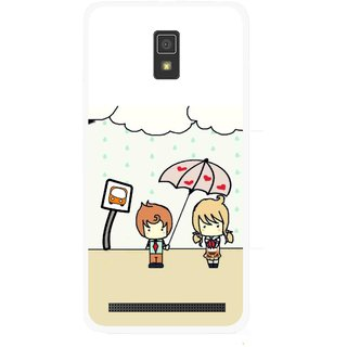 Snooky Printed Feelings in Love Mobile Back Cover For Lenovo A6600 - Multicolour