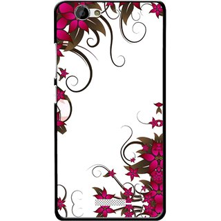 Snooky Printed Flower Creep Mobile Back Cover For Gionee M2 - Multi