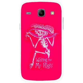 Snooky Printed Mr.Right Mobile Back Cover For Samsung Galaxy Core - Multicolour