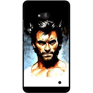 Snooky Printed Angry Man Mobile Back Cover For Nokia Lumia 640 - Multicolour