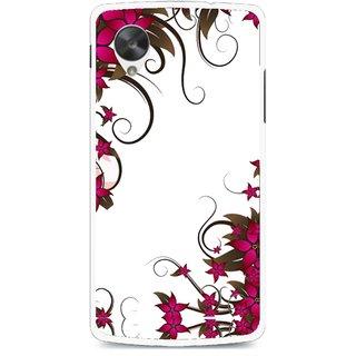 Snooky Printed Flower Creep Mobile Back Cover For Lg Google Nexus 5 - Multi