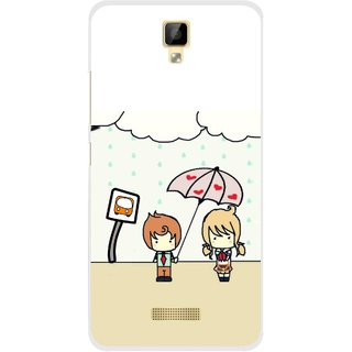 Snooky Printed Feelings in Love Mobile Back Cover For Gionee P7 - Multicolour
