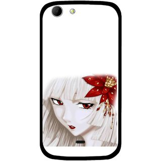 Snooky Printed Chinies Girl Mobile Back Cover For Micromax Canvas 4 A210 - Multicolour