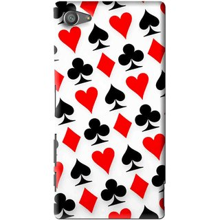 Snooky Printed Playing Cards Mobile Back Cover For Sony Xperia Z5 Compact - Multi