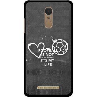 Snooky Printed Football Life Mobile Back Cover For Gionee S6s - Multi