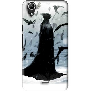 Snooky Printed Black Bats Mobile Back Cover For Micromax Bolt Q338 - Multi