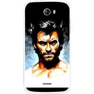 Snooky Printed Angry Man Mobile Back Cover For Micromax Bolt A068 - Multicolour